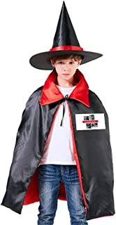 Cowboy Bebop Japanese Unisex Kids Hooded Cloak Cape Halloween Party Decoration Role Cosplay Costumes Outwear Red
