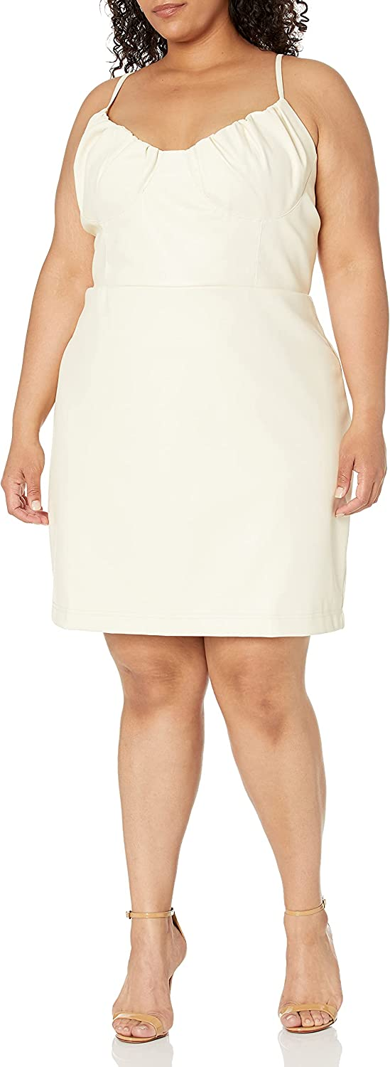 KENDALL + KYLIE Women's Plus Size Shired Bust Cup Mini Dress