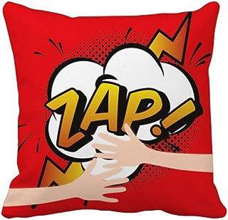 OFFbb-USA Boom Exclamation Zap Hug - Funda cuadrada para almohada