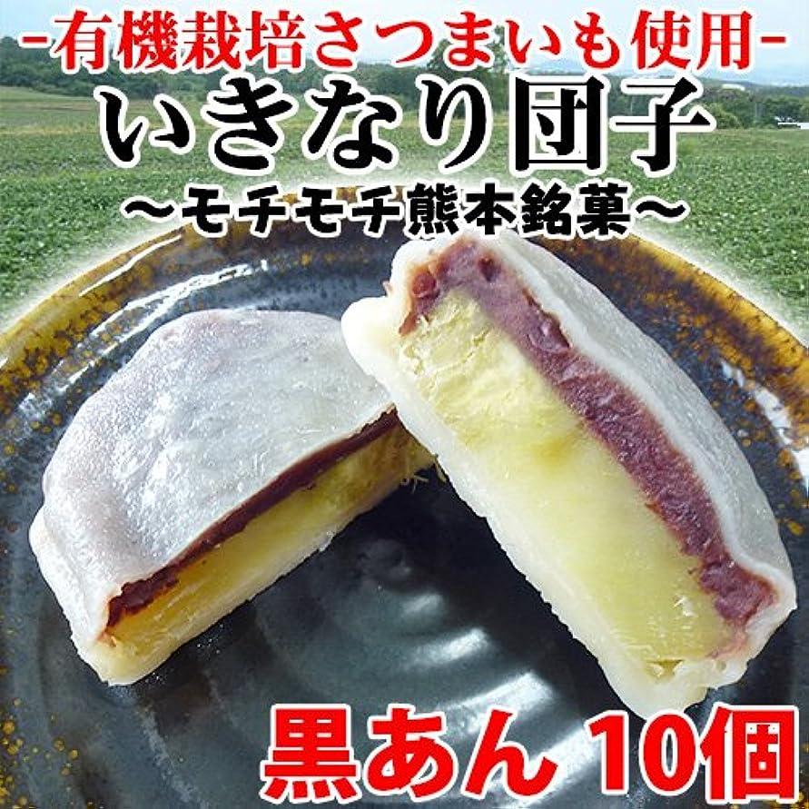 ノーブルマークされた保有者秘密のケンミンSHOW いきなり団子 黒あん10個×1セット かんしょや 有機栽培サツマイモを使用した、モチモチの熊本銘菓。