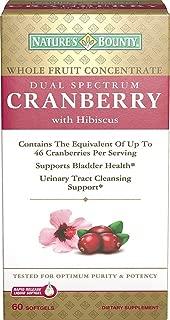 Natures Bounty Dual Spectrum Cranberry Plus Hibiscus Softgels, 60 CT (PACK OF 3)