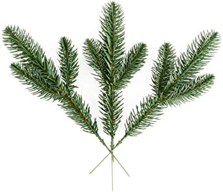 ESA Supplies Artificial Pine Needles Branches Craft Green Garland 20 PCS for Christmas Holidy Home Garden Office Decorating and Flower Arrangement