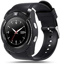 UIEMMY slim horloge Waterdichte Sport Mannen Smart Horloge sim-kaart android camera afgerond Antwoord Oproep Wijzerplaat O...