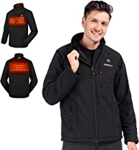 CLIMIX Men's Heated Jacket, Lightweight Water Resistant Slim Fit Jacket with Battery Pack