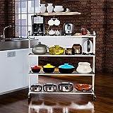 Yxx max *Carrito verdulero Cocina Percheros de Cocina en el Suelo Percheros en Acero Inoxidable