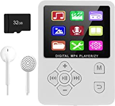 $22 » MP3 Player, Music Player with 32GB Micro SD Card, Portable Music Player with Build-in Speaker, HiFi Lossless Sound, FM Rad...
