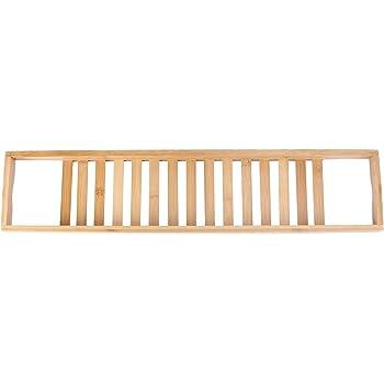 WINOMO バステーブル バスタブラック お風呂雑貨置き台 天然竹製 浴槽ラック