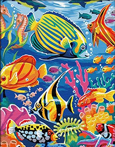 Pittura Digitale, Pittura, Fai da Te, Dipinti a Mano, Acquerello, Pesci d\'alto Mare