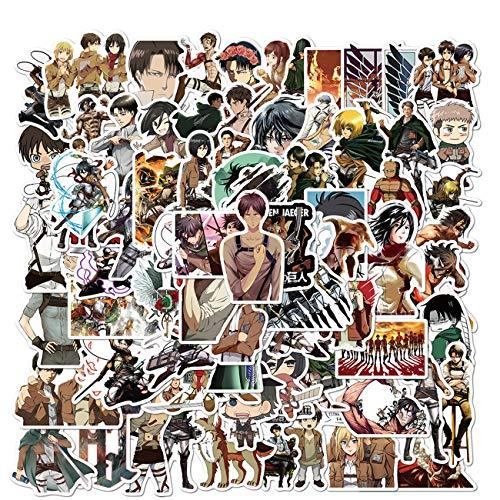 Attack On Titan Aufkleber, 100 Stück, AOT Aufkleber, coole Anime-Aufkleber, Vinyl, wasserdichte Aufkleber für Teenager, Erwachsene, Laptop, Wasserflaschen, Skateboard, Gitarre