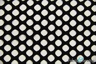 Black Large Hole Fishnet Mesh Fabric 2 Way Stretch Polyester Spandex 54-56