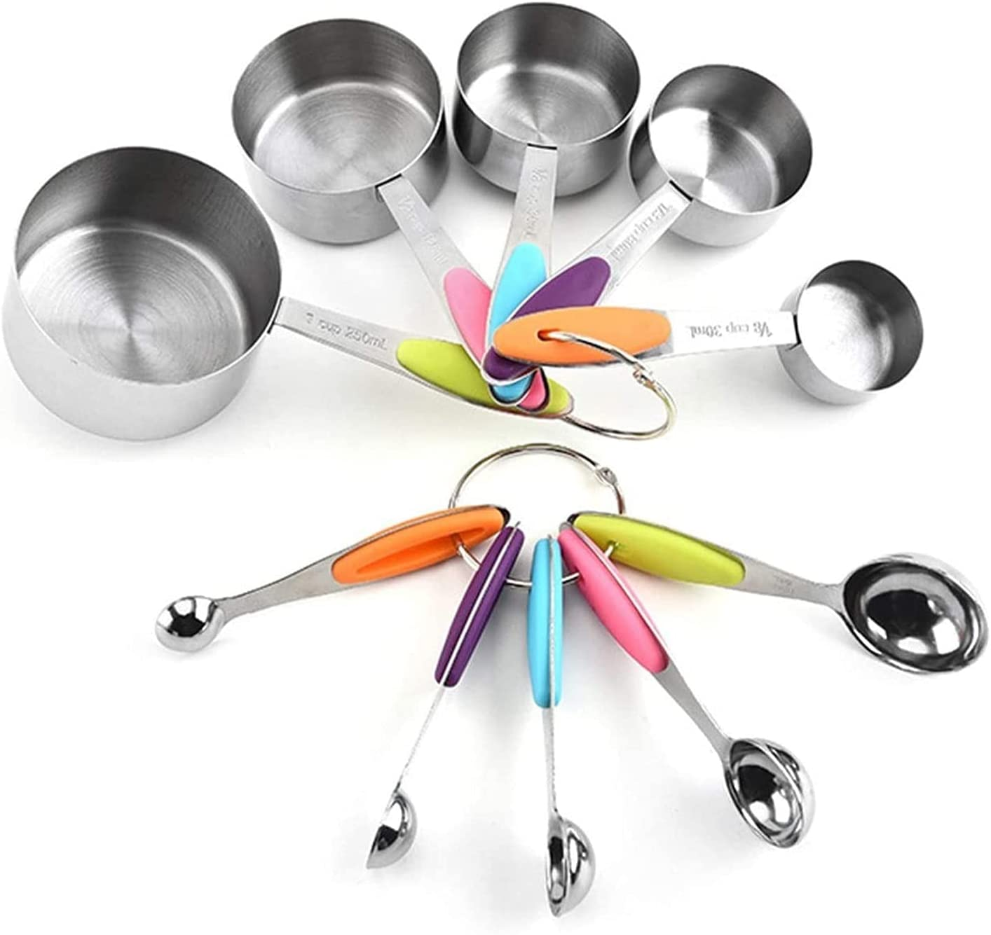 DJDLLZY Set of Manufacturer regenerated product 10 Stainless Steel Heavy M sold out Spoons Measuring Duty