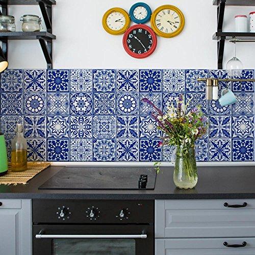 Paquete de 12 unidades de 15 x 15 cm – Fabricado en Italia – PS00133 - Adhesivos decorativos adhesivos para azulejos de vinilo para baño y cocina