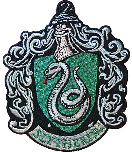 Ata-Boy Harry Potter Slytherin Crest 3.3' Full Color Embroidery Iron-On Patch