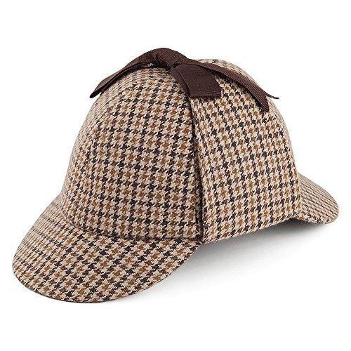 Jaxon & James Sherlock Holmes Hut in Hahnentrittmuster -Braun - M