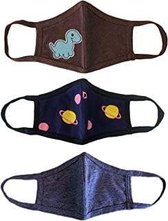 Kids Cloth Face Covering 3 Pack, 2 Layers, Cotton,...