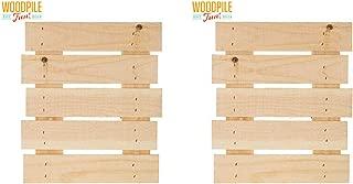 Woodpile Fun Medium Natural Rustic Pallet Sign, Set of 2