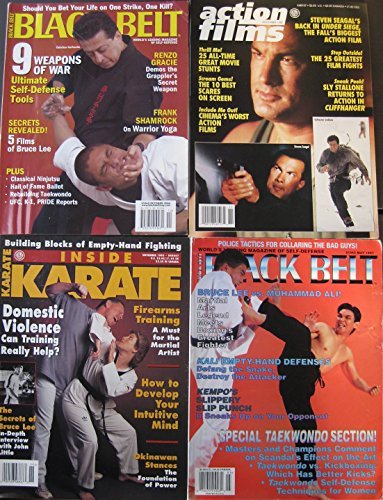 Mixed Lot Of 4 Martial Arts Magazines Don Wilson Steven Seagal Sly Stallone Covers
