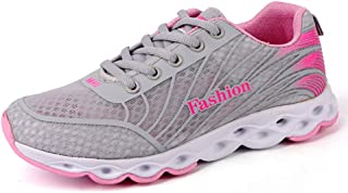 ZLYZS Zapatos para Correr para Mujer, Zapatillas Transversales Transpirables De Malla Zapatillas De Deporte De Moda Casual...