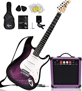 Complete 39 Inch Guitar and Amp Bundle Kit for Beginners-Starter Set Includes 6 String Tremolo Guitar, 20W Amplifier with ...