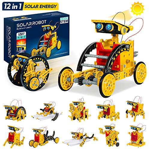 STEM Toys 12-in-1 Solar Robot Toys, Education Science Robotics Kits for Kids Ages 8+, DIY Learning Science Building Toys, which Trains Skills of Science, Technology, Robotics for Girl and Boys