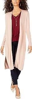 Thalia Sodi Women`s Gauge-Trim Duster Cardigan (Nougat, XL)