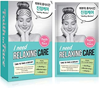 Faith in Face I Need Relaxing Care Soothing Moisture Facial Sheet Mask, Instant Hydration Hydrating Revitalizing Replenish...