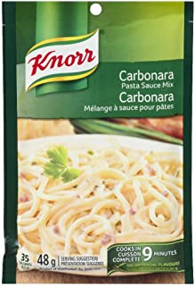 Knorr Pasta Sauce Mix, Carbonara, 48 Grams/1.7 Ounces