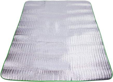 Kaiyu Aluminiumfolie Feuchtigkeits Pad Krabbeln Matte Picknick-Matte Outdoor-Zelt Isomatte Falten Reise Pad Strand Matte 150x180 cm B07H5N9HTQ   Räumungsverkauf