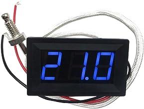 DC 12V -30 A 800 Celsius Medidor LED Digital Termómetro Detector De Temperatura - Azul