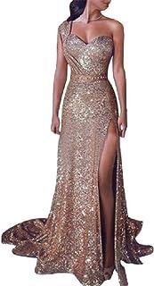 Mfacisa Mujeres Sexy de Noche de Fiesta Brillante Imperio Cintura de un Hombro Vestido