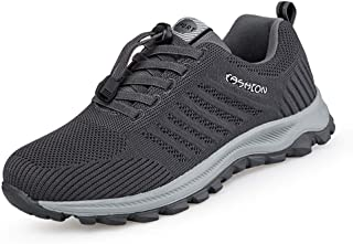 Men's Lightweight Sports Shoes, Non-slip Soft-soled Elderly Walking Shoes, Mesh Wide-foot Flat Shoes, Suitable for Outdoor...