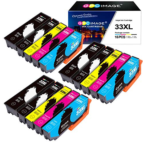 GPC Image 33XL Cartucce d'inchiostro Compatibile per Epson 33XL 33 XL per Epson Expression Premium XP-540 XP-530 XP-830 XP-7100 XP-900 XP-640 XP-630 XP-635 XP-645 (15 Pack)