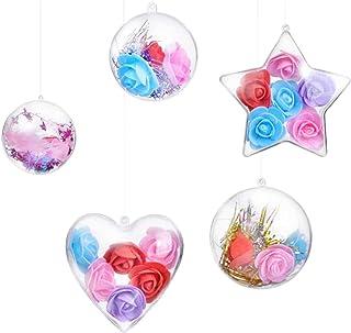 5pcs Boules de No/ël Transparente /à Remplir Boule de D/écoration en Plastique pour D/éco D/écoration de Mariage Anniversaire D/écoration Sapin de No/ël,Mariage,Bapt/ême,D/écor /À La Maison,La F/ê