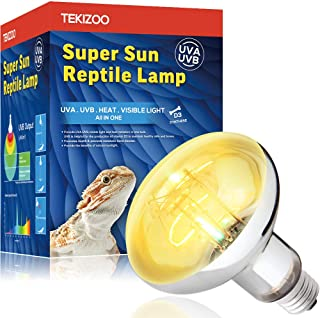 TEKIZOO UVA UVB Sun Lamp High Intensity Self-Ballasted Heat Basking Mercury Vapor Lamp/Light/Bulb for Reptile and Amphibian