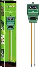 pH سنج Sokir Soil، MS02 3-in-1 رطوبت خاک / نور / pH تستر ابزار باغبانی برای مراقبت از گیاهان، بزرگ برای باغ، چمن، مزرعه، استفاده داخل و خارج از منزل (سبز)