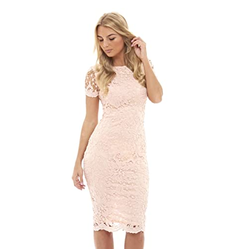 04f43fdcf2c03 AX Paris Women's Floral Detail Crochet Midi Dress