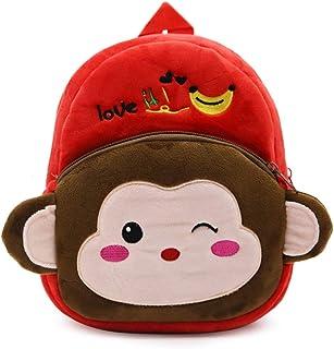 Mochila de Dibujos Animados para Animales, Bolsa para niños pequeños Bolsas Escolares Lindas para niños de 1-3 años, Regalo para niños de jardín de Infantes (Pequeño mono)