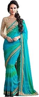 Best peacock green blue saree Reviews