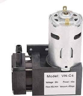 DC 24V Mini Oilless Vacuum Pump, Small -85KPa Flow 40L/min Oilless Pump for Gas Air