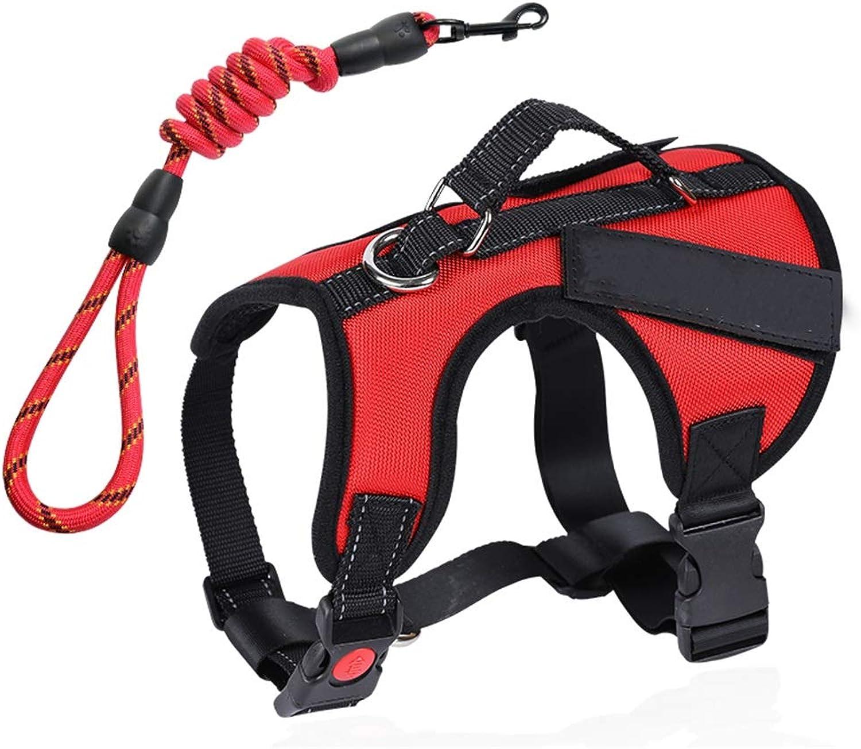 Dog Leash, Night Reflective Chest Strap Pet Vest Style Hyena Chain  Large Dog Leash Thick Ribbon (color   1002M)