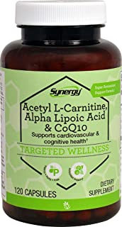 Vitacost Synergy Acetyl L-Carnitine, Alpha Lipoic Acid & CoQ10 -- 120 Capsules