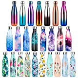 lalafancy Botella de Agua Acero Inoxidable 350ml/500ml/750ml, Aislamiento de Vacío de Doble Pared,...