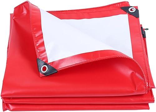Zm Bache imperméable épaisse, Feuille de bache résistante à l'usure de Prougeection Solaire Rouge PVC, activités extérieures, Tente de Camping et d'autres Occasions appliquent la bache (Taille   3m4m)