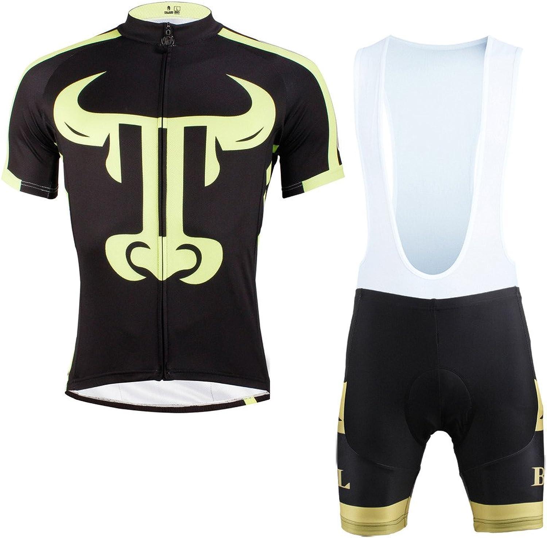 PaladinSport Men's Black Short Sleeve Cycling Clothing