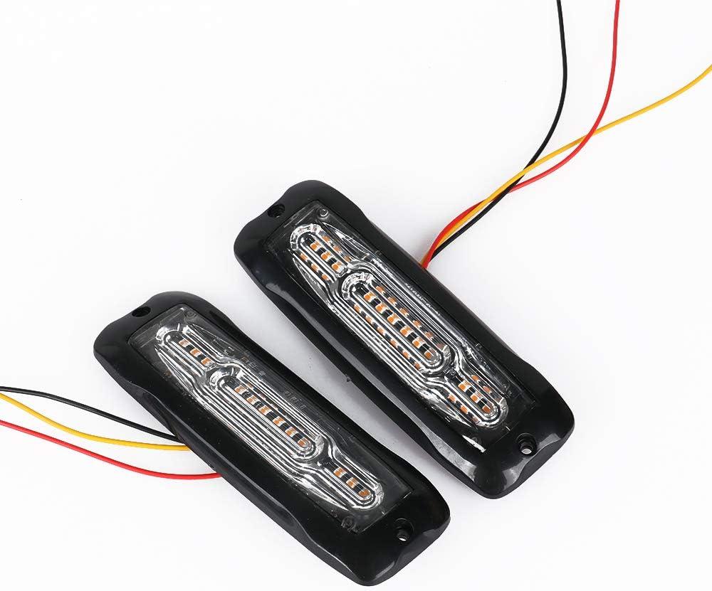 2pcs security Universal 12V-24V Max 84% OFF Super Bright 12W 12-LED White Amber Warni