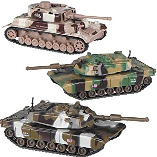 Deluxe Military DIE CAST Toy Tanks - 3 Piece Set