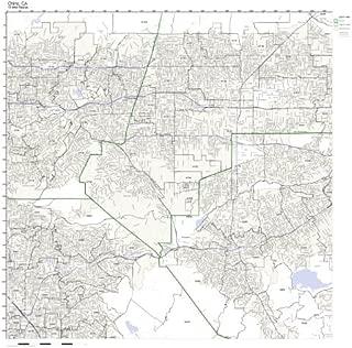 Chino, CA ZIP Code Map Laminated