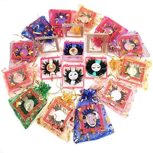 U-Hotmi Custom Logo New 25mm Mink Lashes, 10/20/30/50/100 Pairs Handmade False Eyelashes 3D Mink Eyelashes Wholesale
