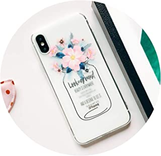 Patterned Flamingo Leaves Floral Case for iPhone 7 Case Silicone for iPhone 8 7 Plus 6 6S X XS Max XR Case Soft Cover,08,for iPhone XR