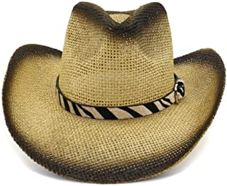 USPANDI PANDI Hats Women Men Wool Hollow Western Cowboy Hat Gentleman Roll Up Brim Sombrero Cap Dad Hat